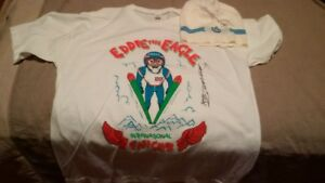 Eddie The Eagle SIGNED Shirt Jersey Calgy 88 + Raptor bobblehead