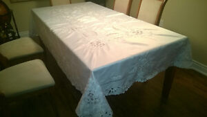 Handmade Stiched Table Cloth with 12 Napkins Kawartha Lakes Peterborough Area image 2