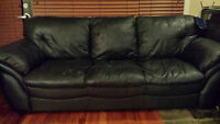Black couches, great conidition