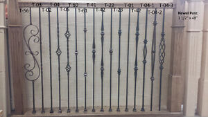 Wrought iron stair balusters, baluster shoe, metal spindles $4.5