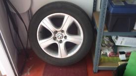 SIZE 235/60 R18 ALLOY & TYRE FOR VW TOUAREG £50