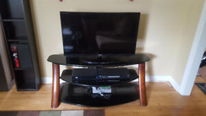 Beautiful Glass and Dark Wood Entertainment Centre - Moving Sale
