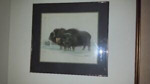 NATIVE CANADIAN ARTIST JAMES LUMBERS SIGNED/NUMBERED PRINT;