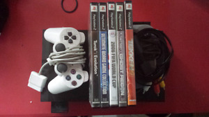 Ps2 with 2 controllers and games and memory