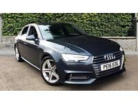 2016 Audi A4 2.0 TDI S Line 4dr with Sat Na Manual Diesel Saloon