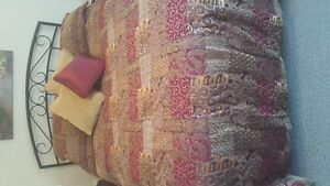 Red and Gold Bedding EUC
