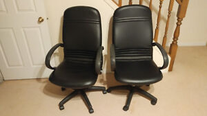 Mint leather office swivel chairs