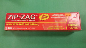 ZIP-ZAG Resealable Storage Bags