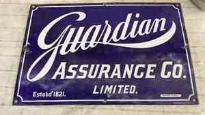 Vintage Guardian Assurance Co. Limited  porcelain sign