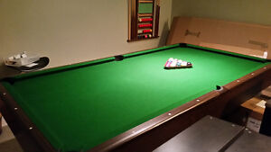 8'x4. Pool Table and accessories