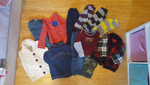 Lot of boys clothes  18-24 mos