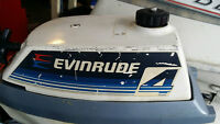 Evinrude 4 hp 2 str s shaft outboard motor with build in tank