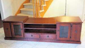 """Beautiful Solid Wood TV Stand Entertainment Unit (86""""x20""""x24""""h)"""