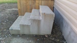 pre-fab concrete stairs