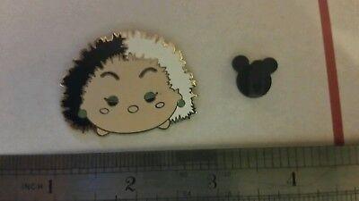 New 2017 Disney pin Tsum Tsum Villains  Cruella DeVille  Extra Large