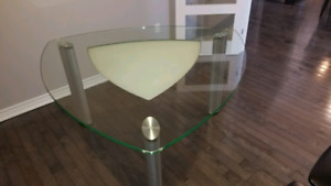 Solid Glass top Dining Table