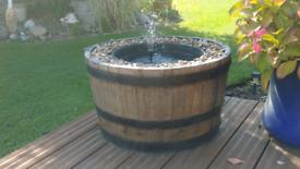 Half barrel water feature