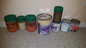 FREE Latex Paint Remnants Several Quarts in Different Colours