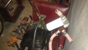 hydraulic pump, lines, tank, control valve, filter & implements