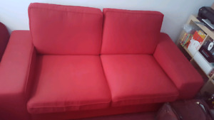 2seat Sofa. Love Seat. KIVIK from IKEA. Red. Great condition.