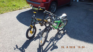 2 boy bikes - less that one season used (see all the pictures)