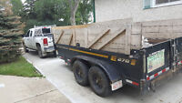 Dump trailer/Dump truck/Skidsteer/Excavation services