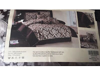NEW 7-piece bedspread set - KING SIZE - chocolate colour
