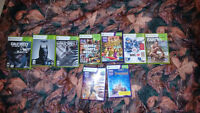 Xbox 360 (Great Condition) and 9 Games.