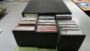 CD'S AND ORGANIZER. REDUCED TO $65 FROM $100