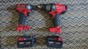 Milwaukee Brushless M18 Fuel hammer drill and impact set,