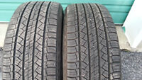 Selling 2 Michelin size 235 55 18 all season tires