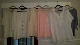 Selection of ladies tops size 30