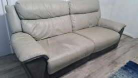 Leather 3 seater and 2 seater