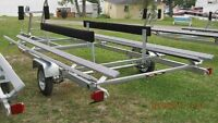 factory clearance pricing , 20 galvinized pontoon trailer