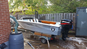 50hp 16 foot tempest boat
