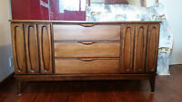 MCM Walnut Sideboard -refinished-in Broyhill Brasilia style