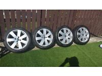 "17"" ford alloys 4x108 less than 1000 miles covered"