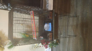 Big bird cage with stand and esseseries