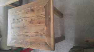 Home crafted barn wood coffee and end table set