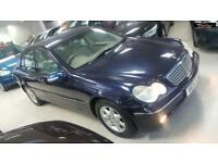2001 MERCEDES C CLASS C180 ELEGANCE Blue Auto Petrol