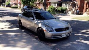 Infiniti G35 for sale contact me at 647 642 8958