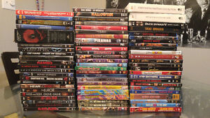 Assorted DVDs and Blu-Rays