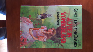Alice in Wonderland hard cover book