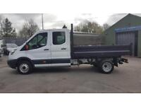 2015Ford Transit 125PS RWD 350 Double/Crew Cab Tipper/38000 miles