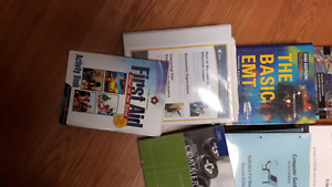 Accounting books. Few emt and first aid