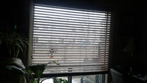 Brown Wooden faux blinds
