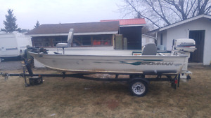 1997 Aluminum Fishing Boat 25hp Johnson