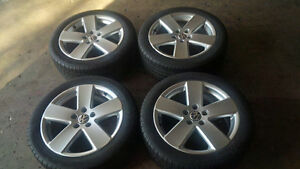 17'' Volkswagen 5x112 Alloy Wheels 225/45/17 All Season Tires