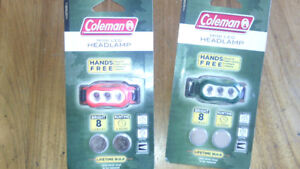 Coleman camping mini head lamps for reading in tent