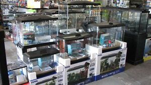 "FLUVAL ACRYLIC VISTA"" PANORAMIC""  LED AQUARIUM STARTER KITS"